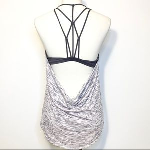 Lululemon tank top with strappy built-in bra Sz 10